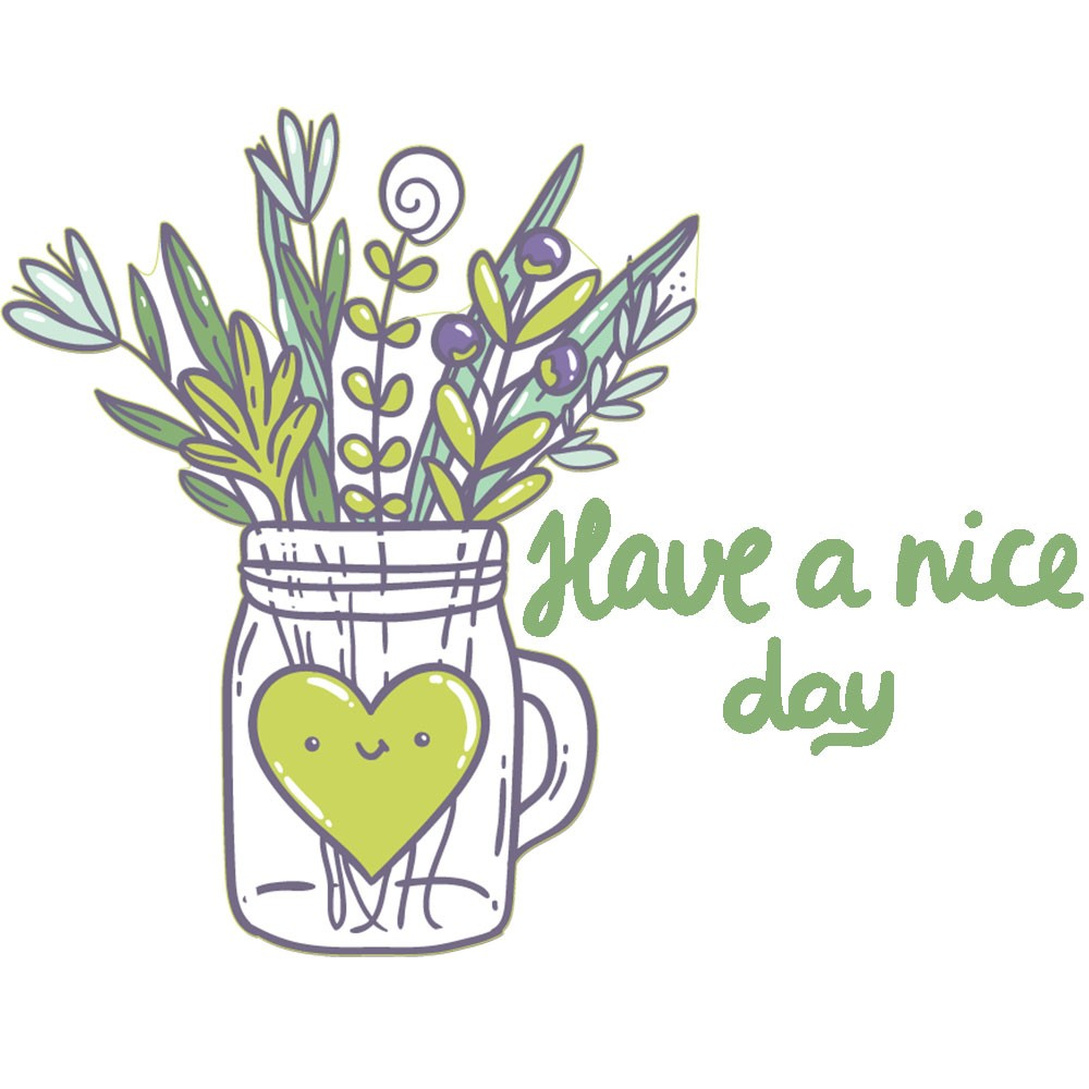 Adesivo de Geladeira Have a Nice Day Plant And Heart