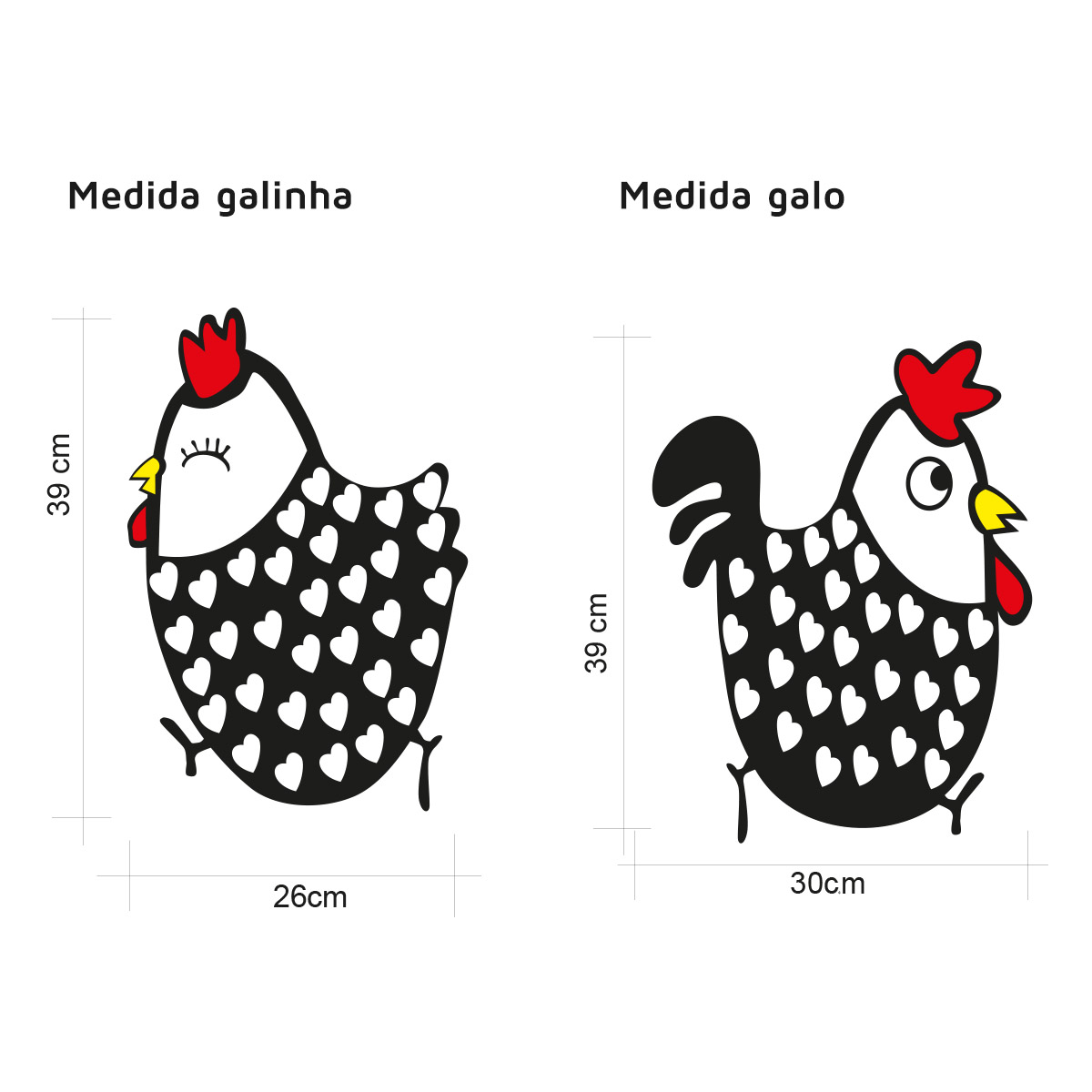 Adesivo de Geladeira KIT Casal Galinha D Angola