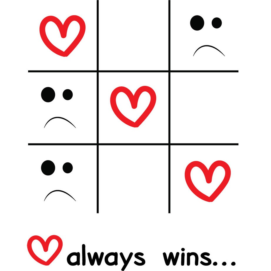 Adesivo de Geladeira Love Always Wins