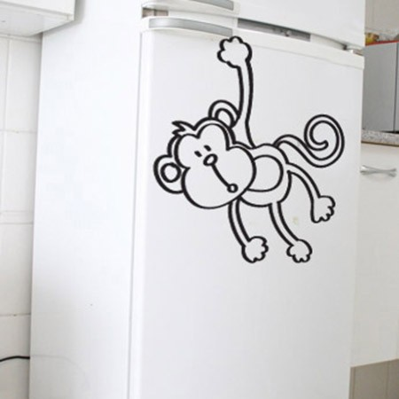 Adesivo de Geladeira Macaco Quer Banana