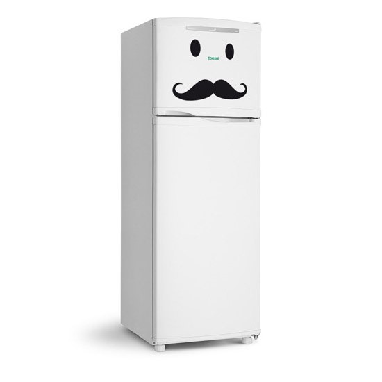 Adesivo de Geladeira Bigodão Mustache