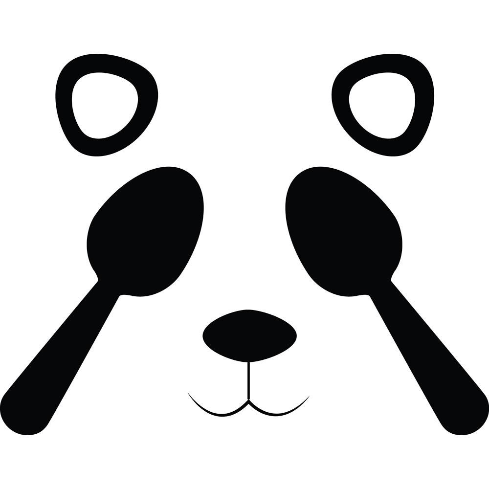 Adesivo de Geladeira Panda Escondido