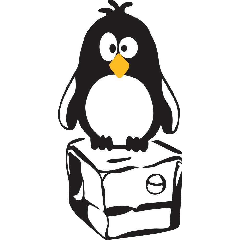 Adesivo de Geladeira Pinguim Congelado