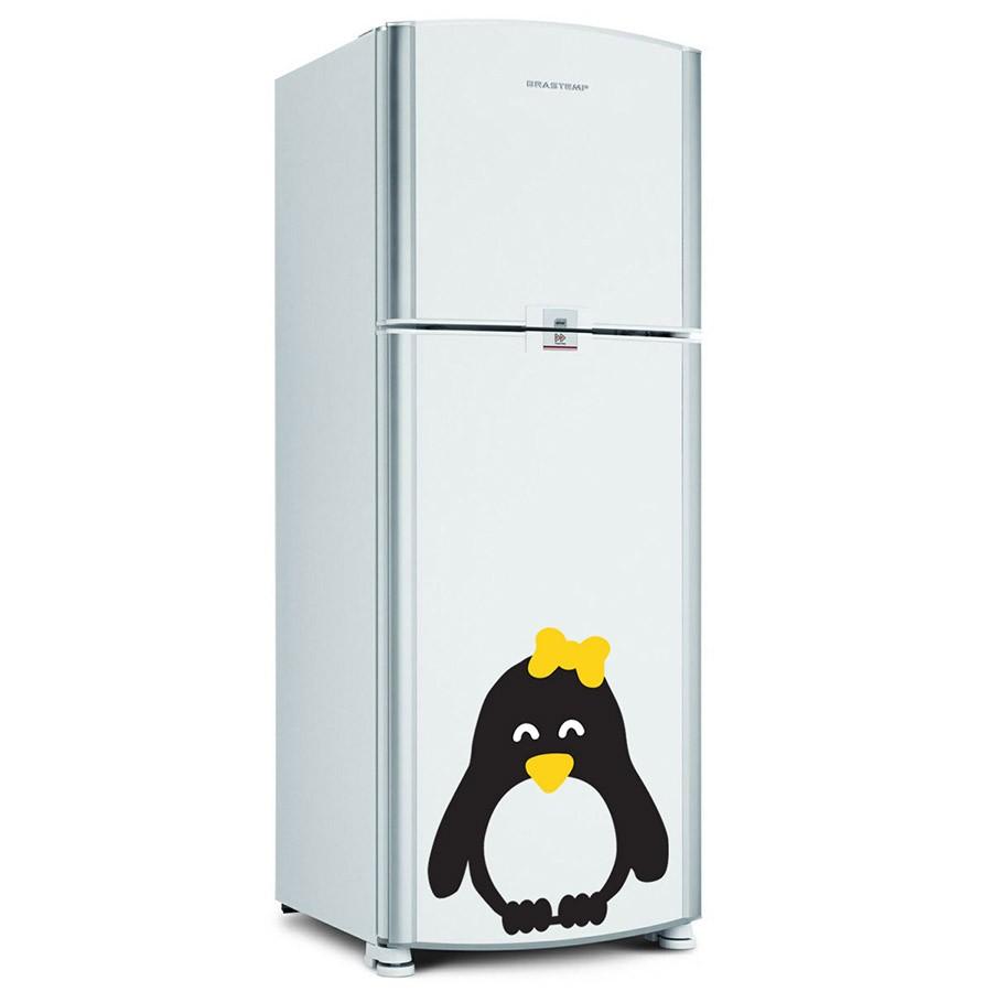 Adesivo de Geladeira Pinguim Fêmea Lacinho