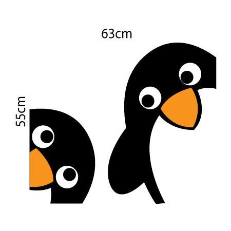 Adesivo de Geladeira Pinguins Fofos