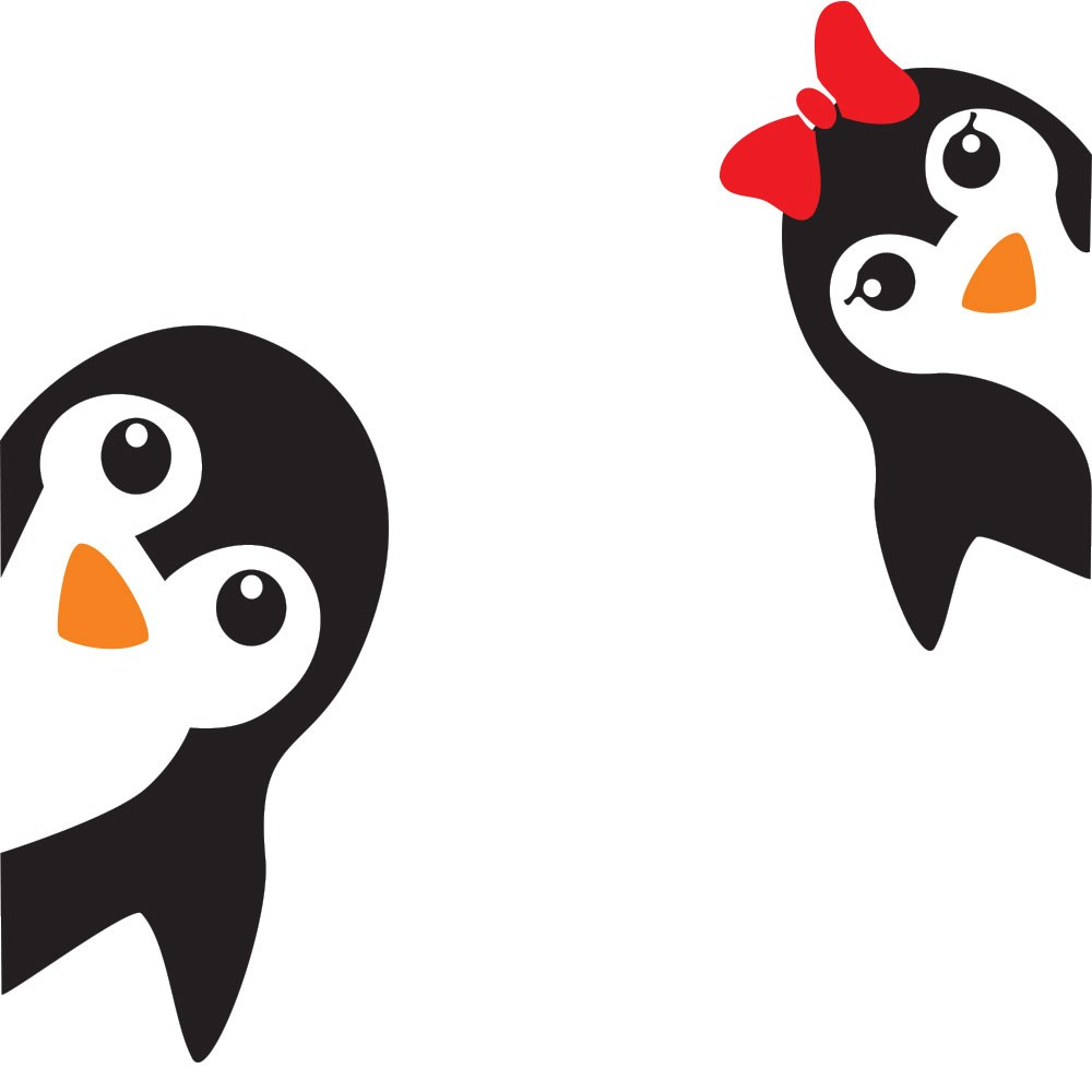 Adesivo de Geladeira Pinguim Irmãos