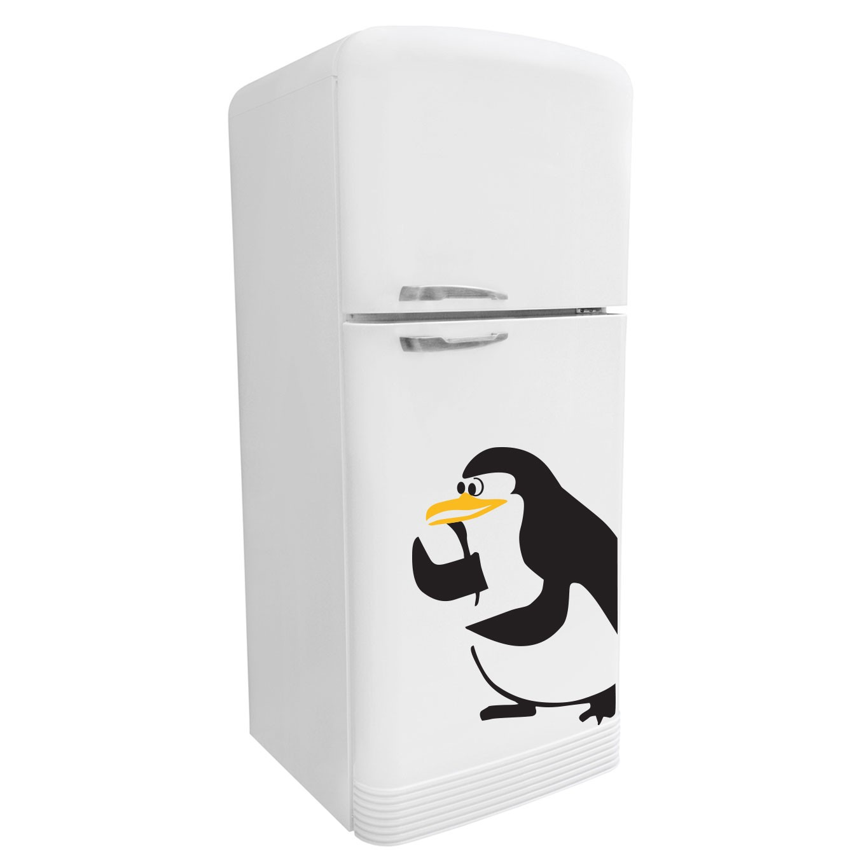 Adesivo de Geladeira Pinguim Quer Brigar