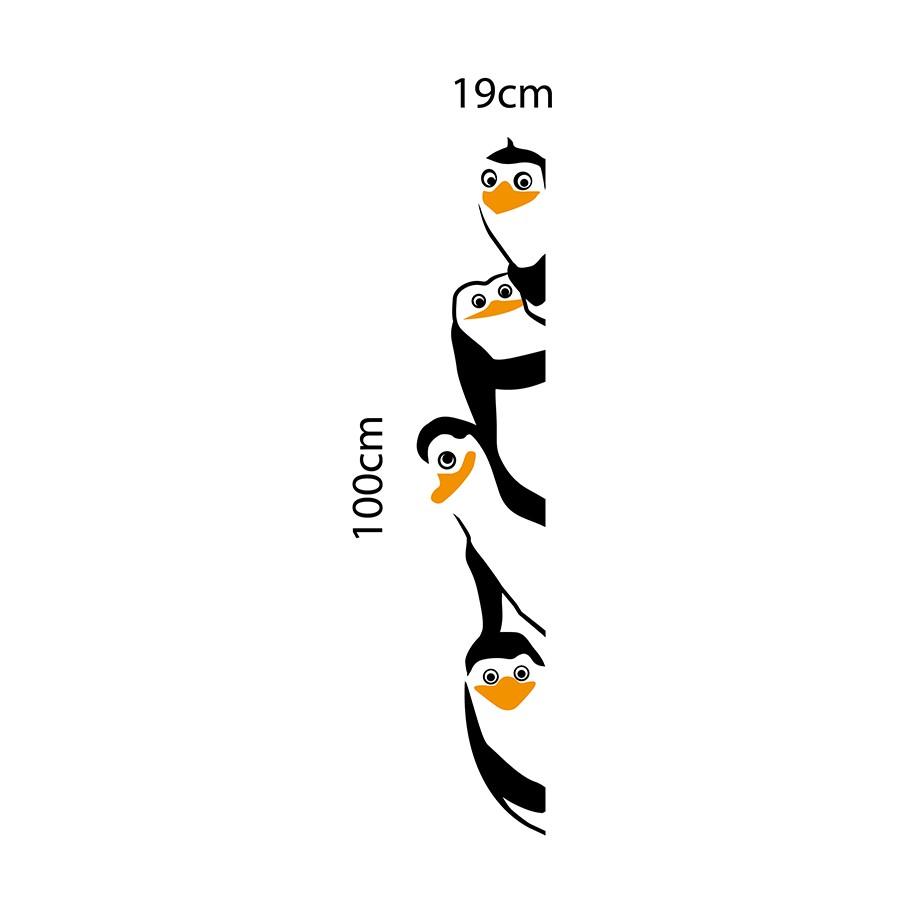 Adesivo de Geladeira Pinguins de Madagascar Grande