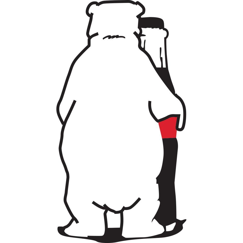 Adesivo de Geladeira Urso Polar