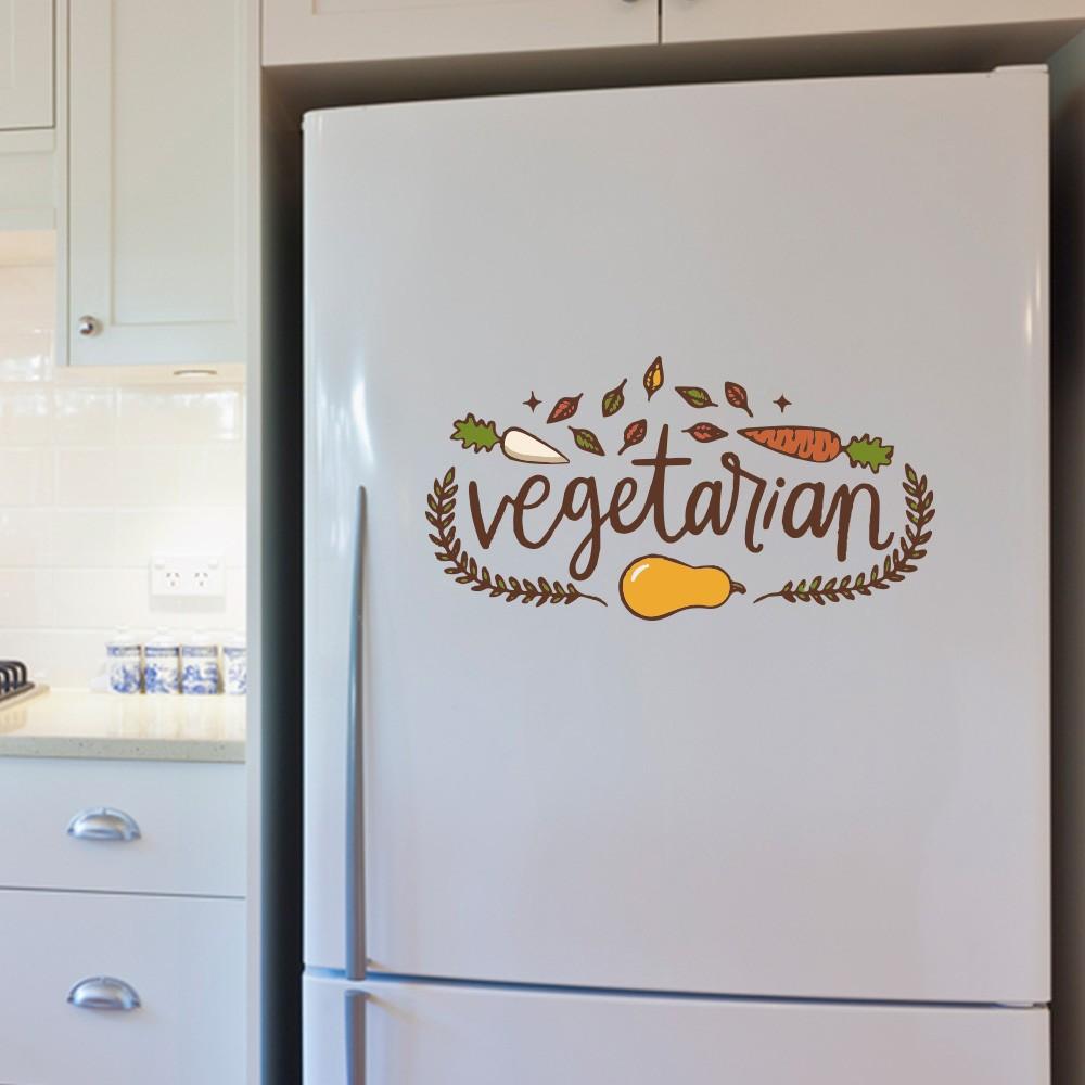 Adesivo de Geladeira Vegetarian