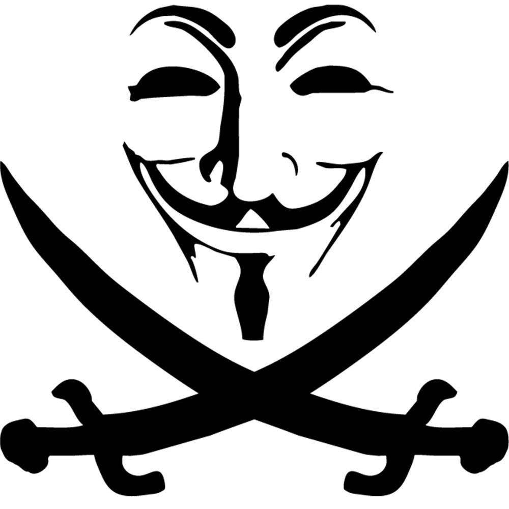 Adesivo de Notebook Anônimos Pirata