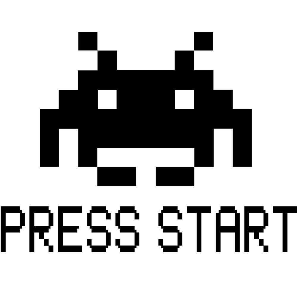 Adesivo de Notebook Press Start
