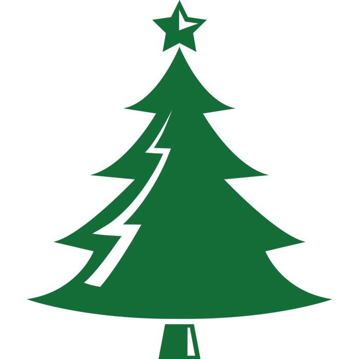 Adesivo de Parede Árvore Verde de Natal