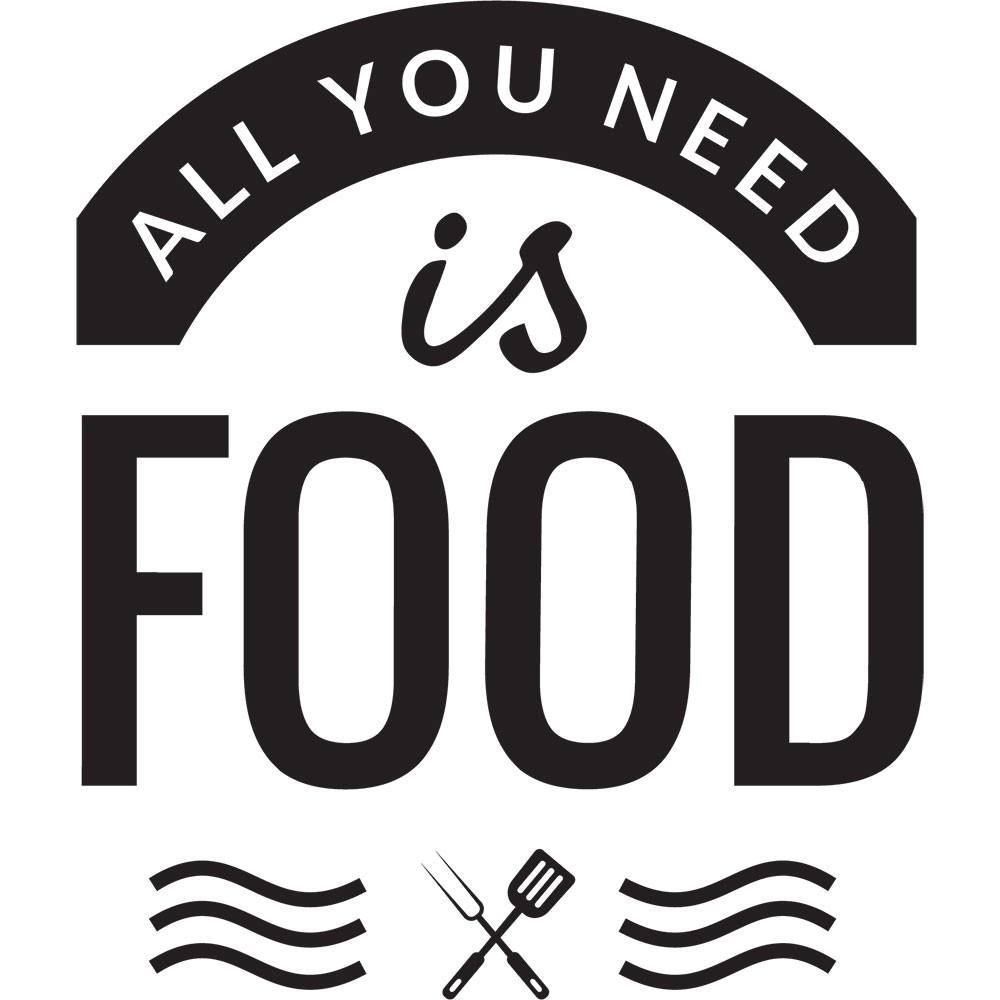 Adesivo de Parede All You Need Is Food