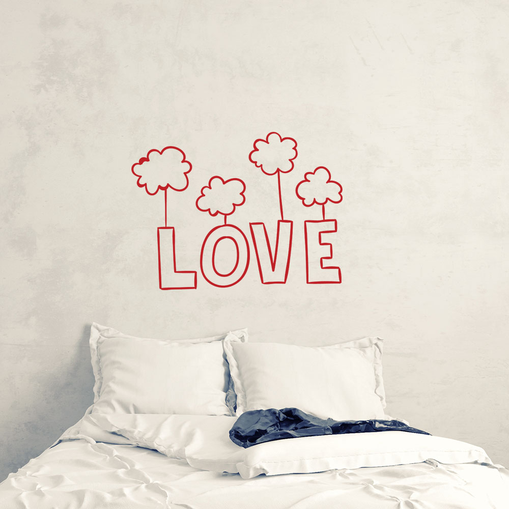 Adesivo de Parede Amor nas Nuvens