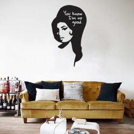 Adesivo de Parede Amy Winehouse