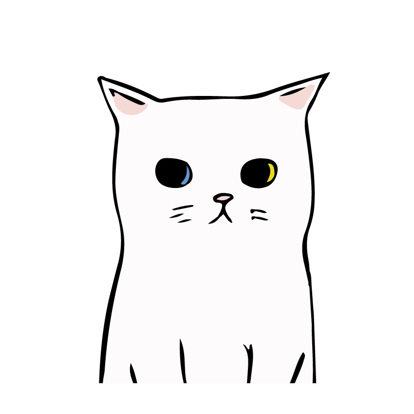 Adesivo de Parede Animal Series Gatinho Branco