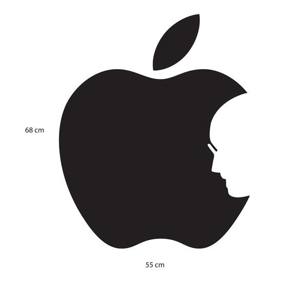 Adesivo de Parede Apple Jobs