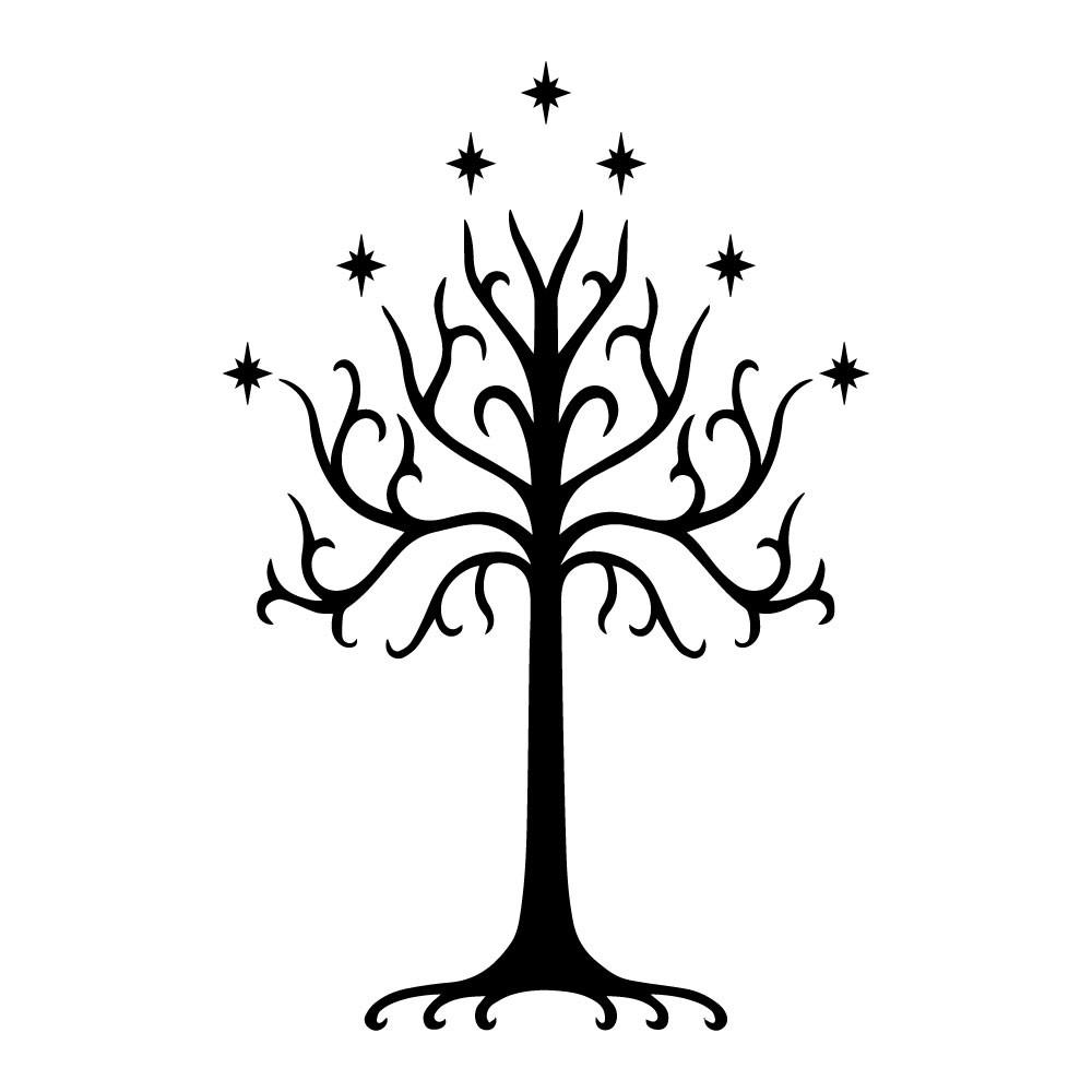 Adesivo de Parede Árvore de Gondor Senhor dos Anéis