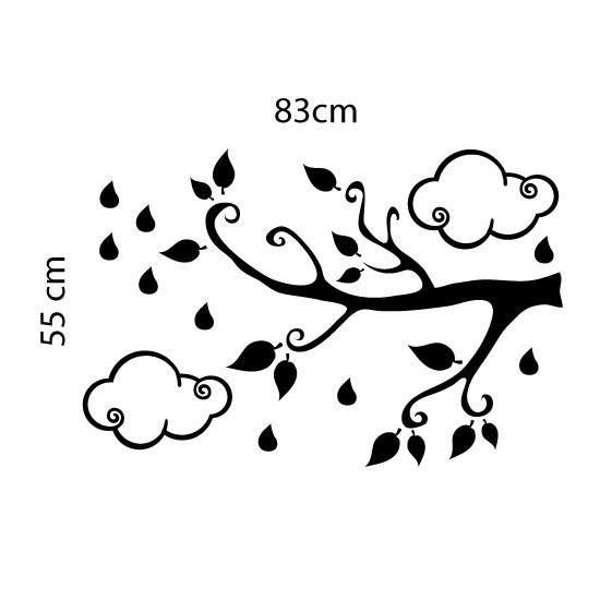 Adesivo de Parede Árvore Gotinha