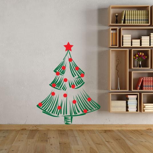 Adesivo de Parede Árvore Natal