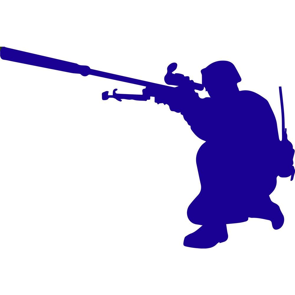 Adesivo de Parede Azul Soldado