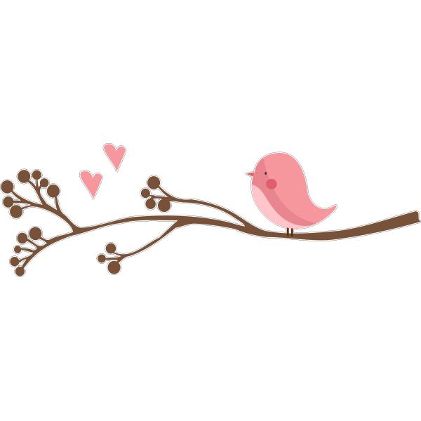 Adesivo de Parede Baby Bird
