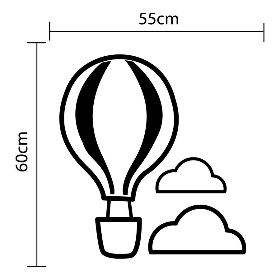 Adesivo de Parede Balão Voando Nas Nuvens