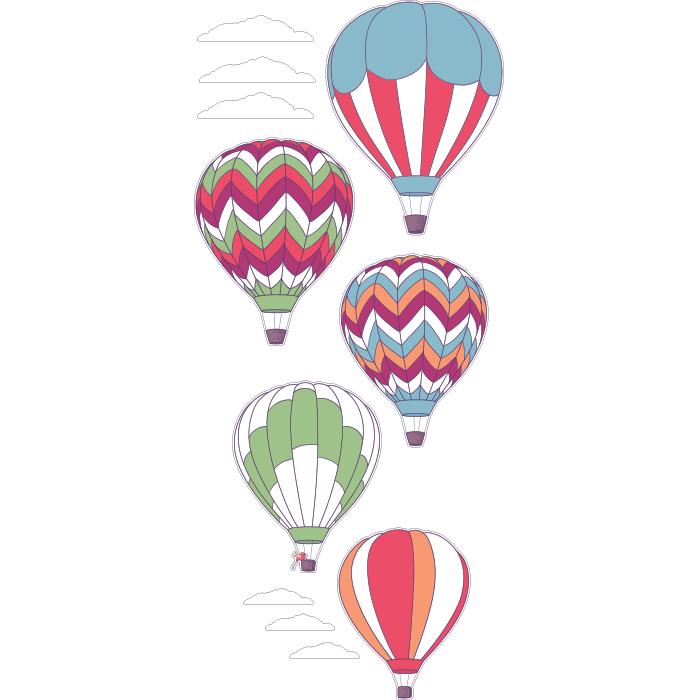 Adesivo de Parede Balões de Ar