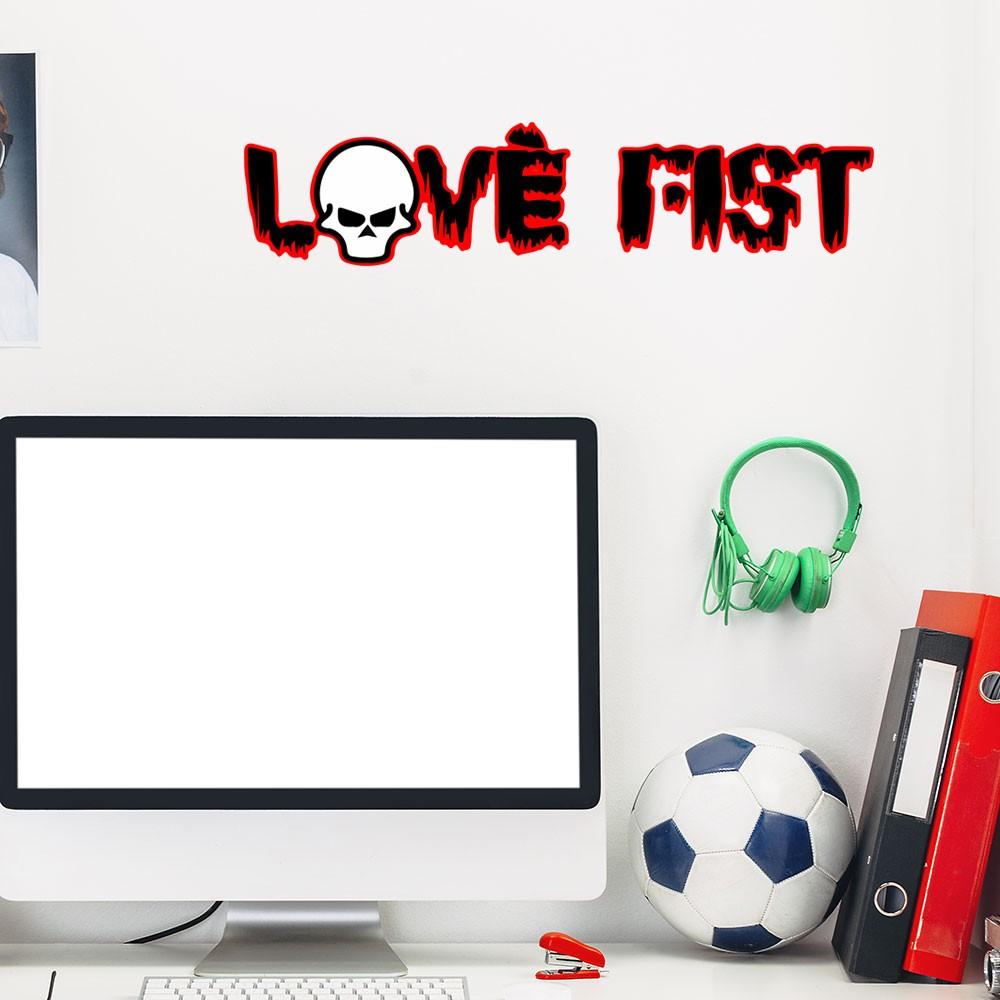 Adesivo de Parede Banda Love Fist