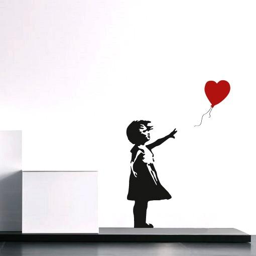 Adesivo de Parede Banksy Balloon Girl