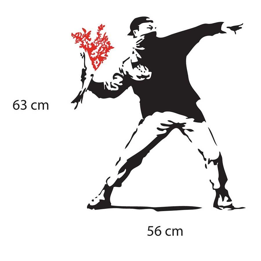 Adesivo de Parede Banksy Flower Thrower