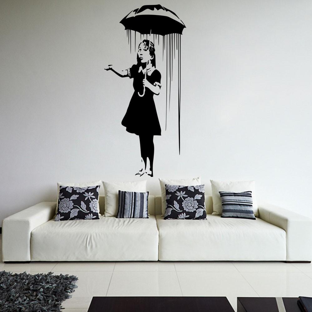 Adesivo de Parede Banksy Girl in the Rain