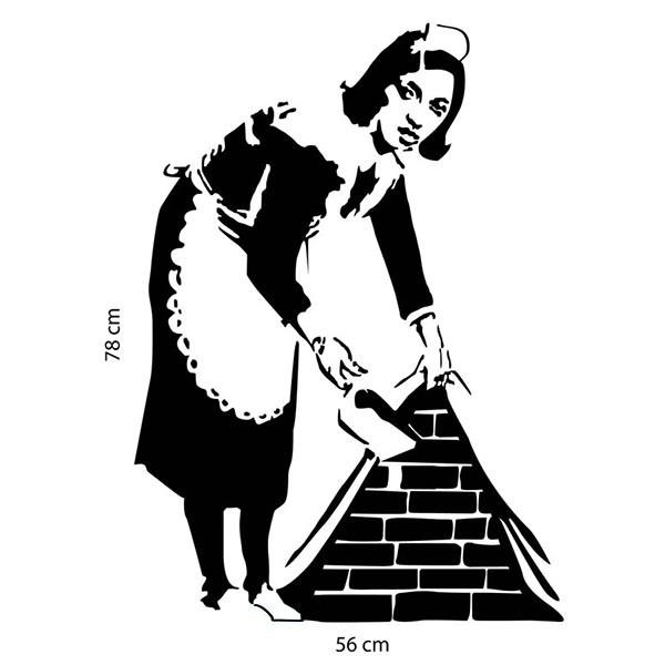 Adesivo de Parede Banksy Maid