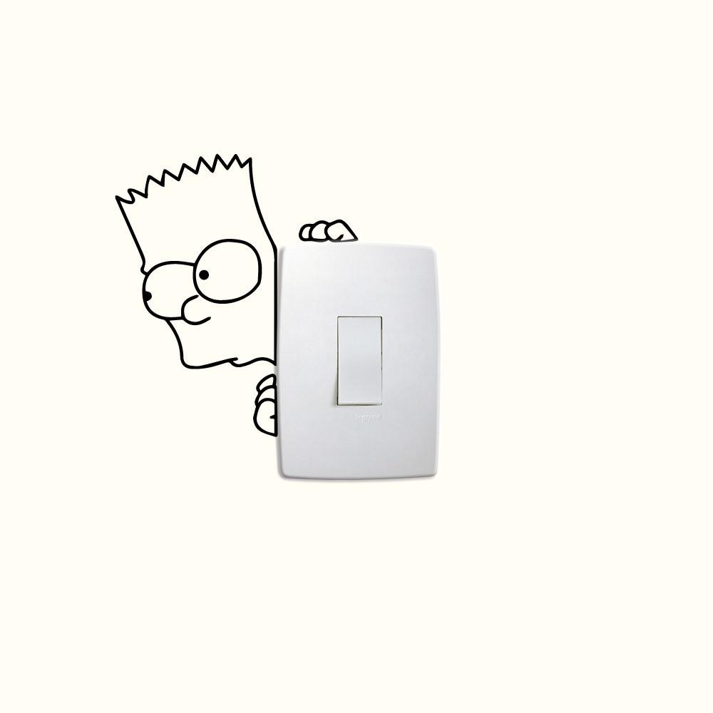 Adesivo de Parede Bart Interruptor