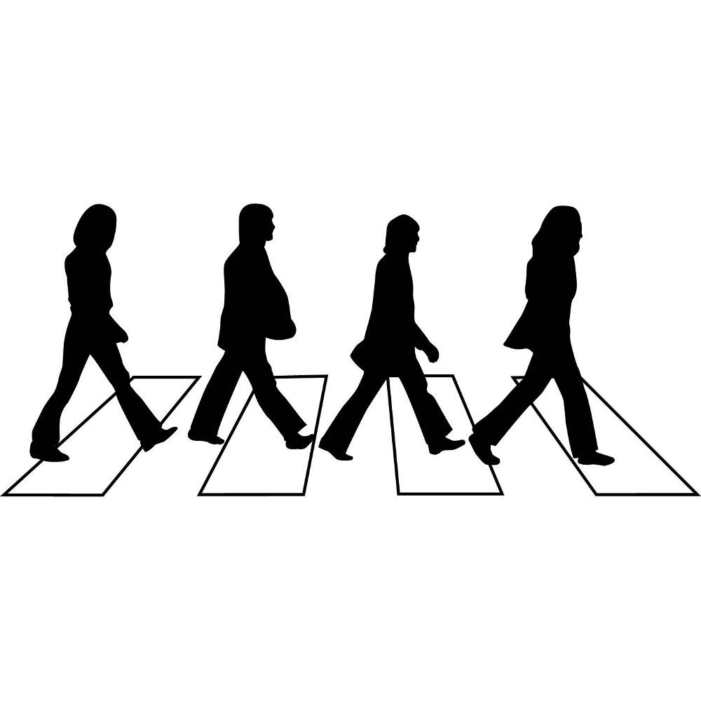 Adesivo de Parede Beatles Andando