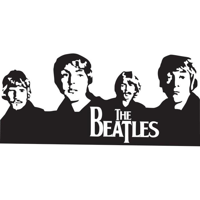 Adesivo de Parede Beatles Banda