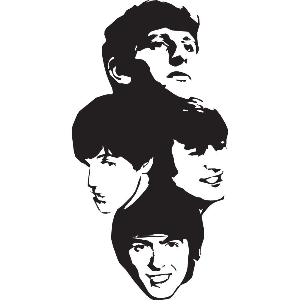 Adesivo de Parede Beatles Estatua