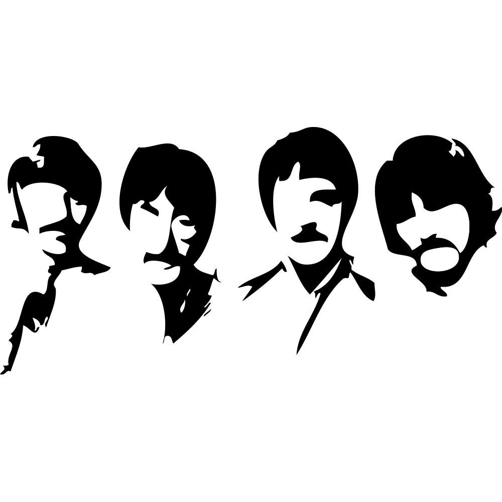 Adesivo de Parede Beatles Style