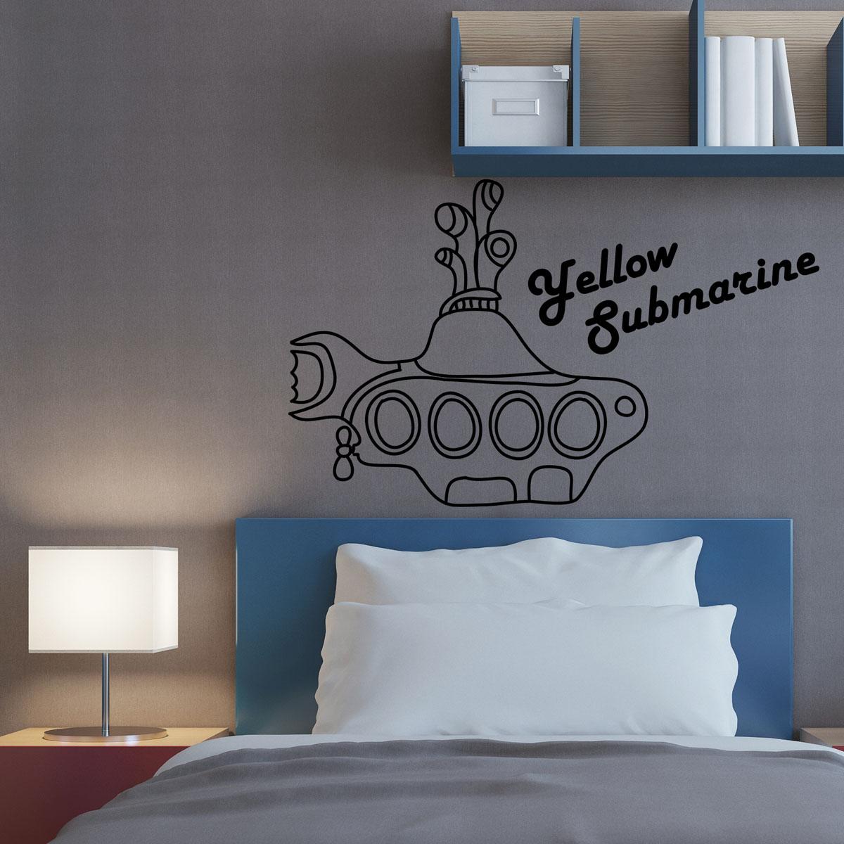 Adesivo de Parede Beatles Yellow Submarine