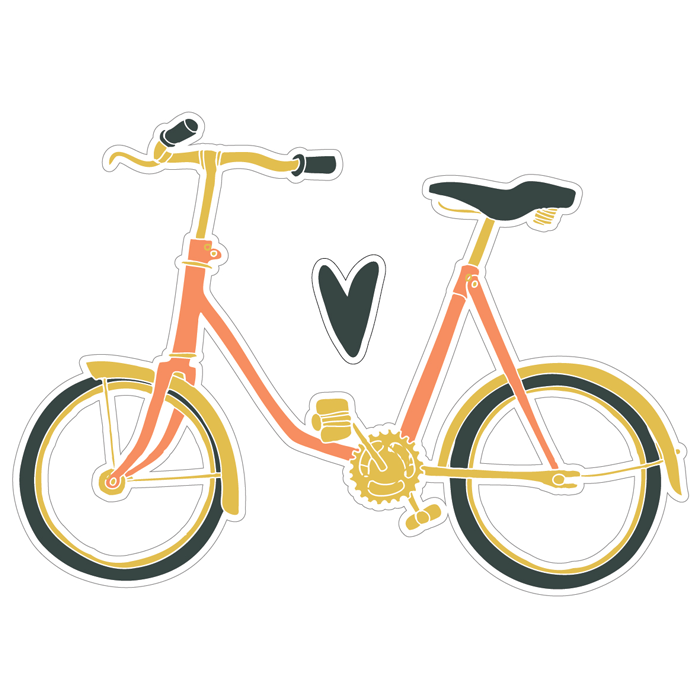 Adesivo de Parede Bicicleta Retrô