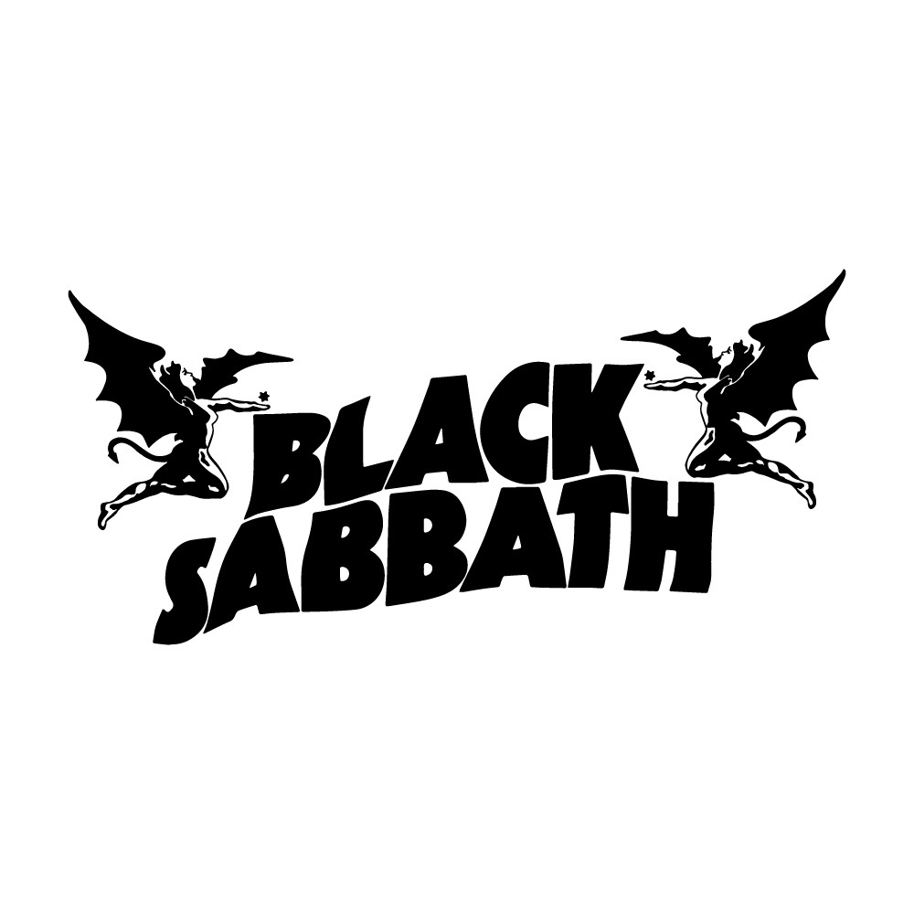 Adesivo de Parede Black Sabbath Logo