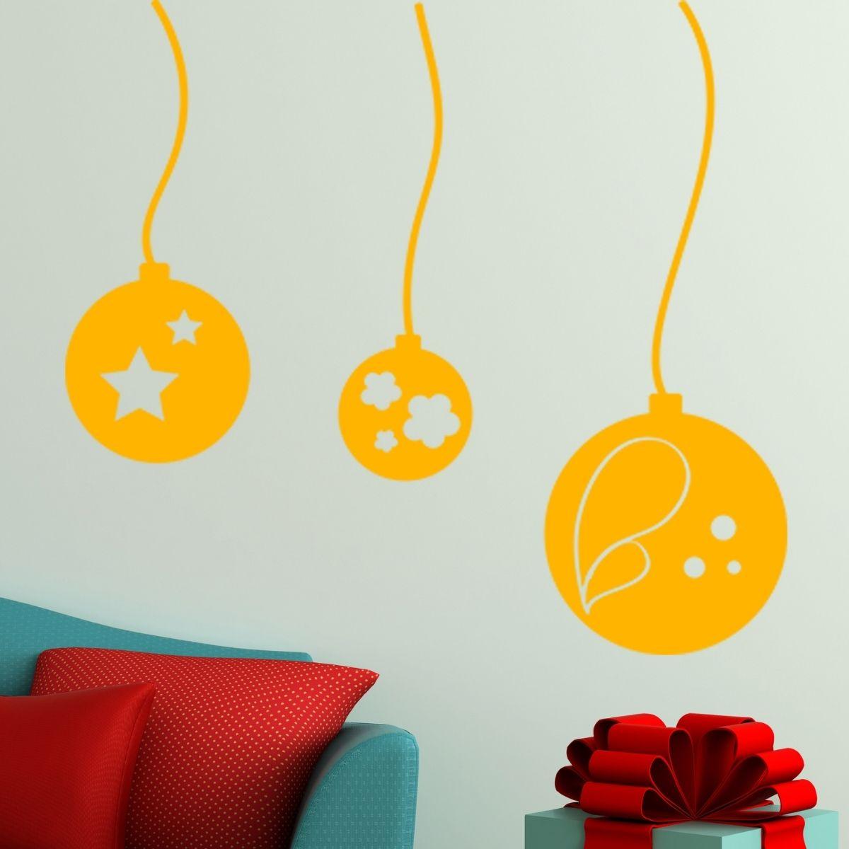 Adesivo de Parede Bolas de Natal II