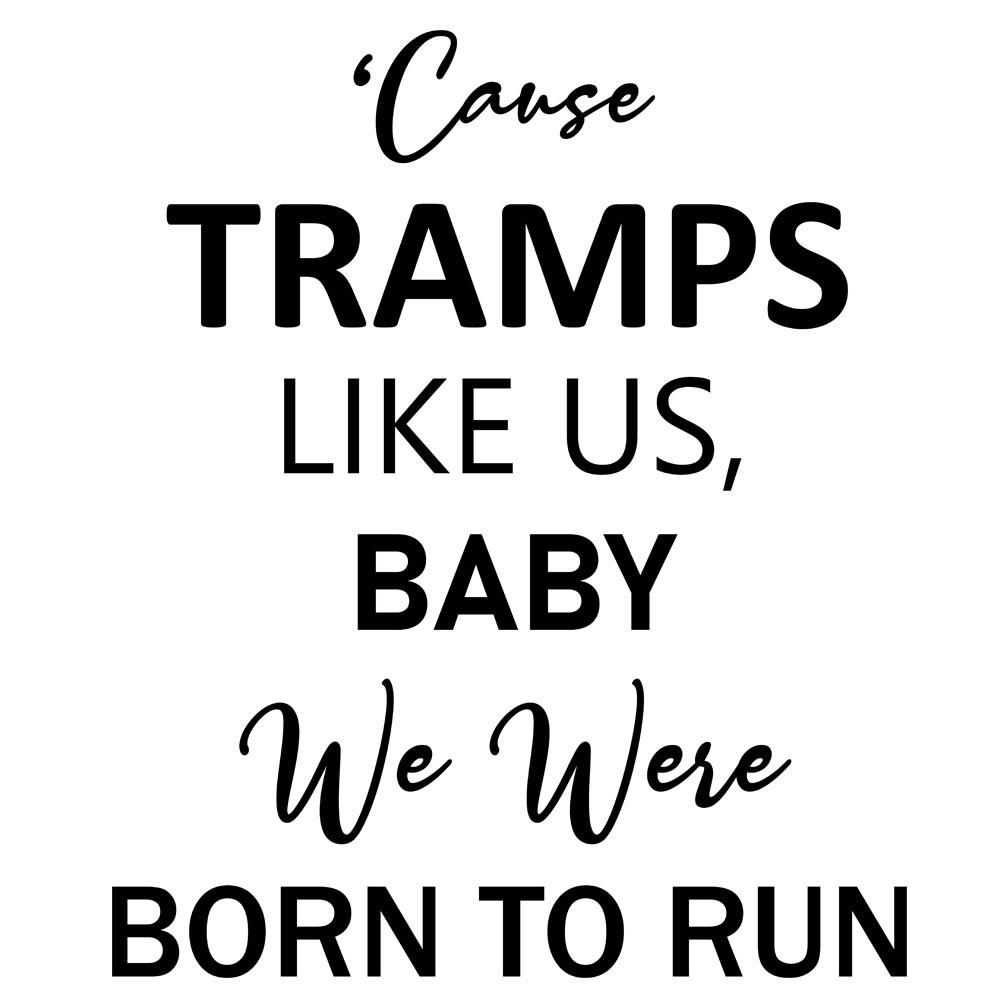 Adesivo de Parede Born to run
