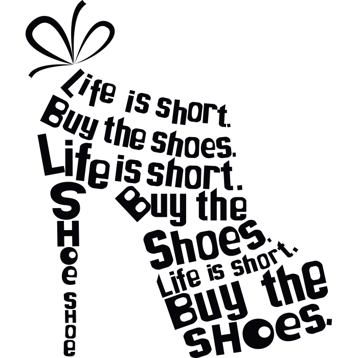 Adesivo de Parede Buy The Shoes