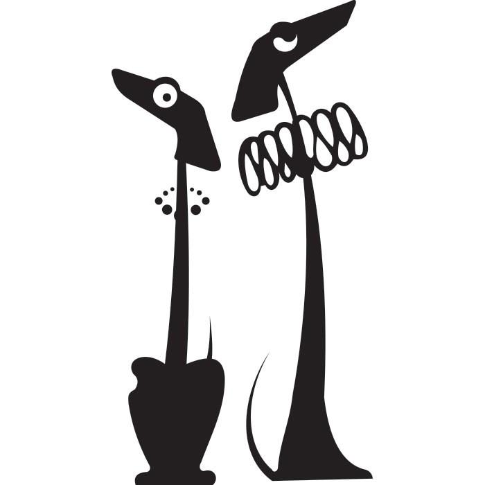 Adesivo de Parede Casal de Cães