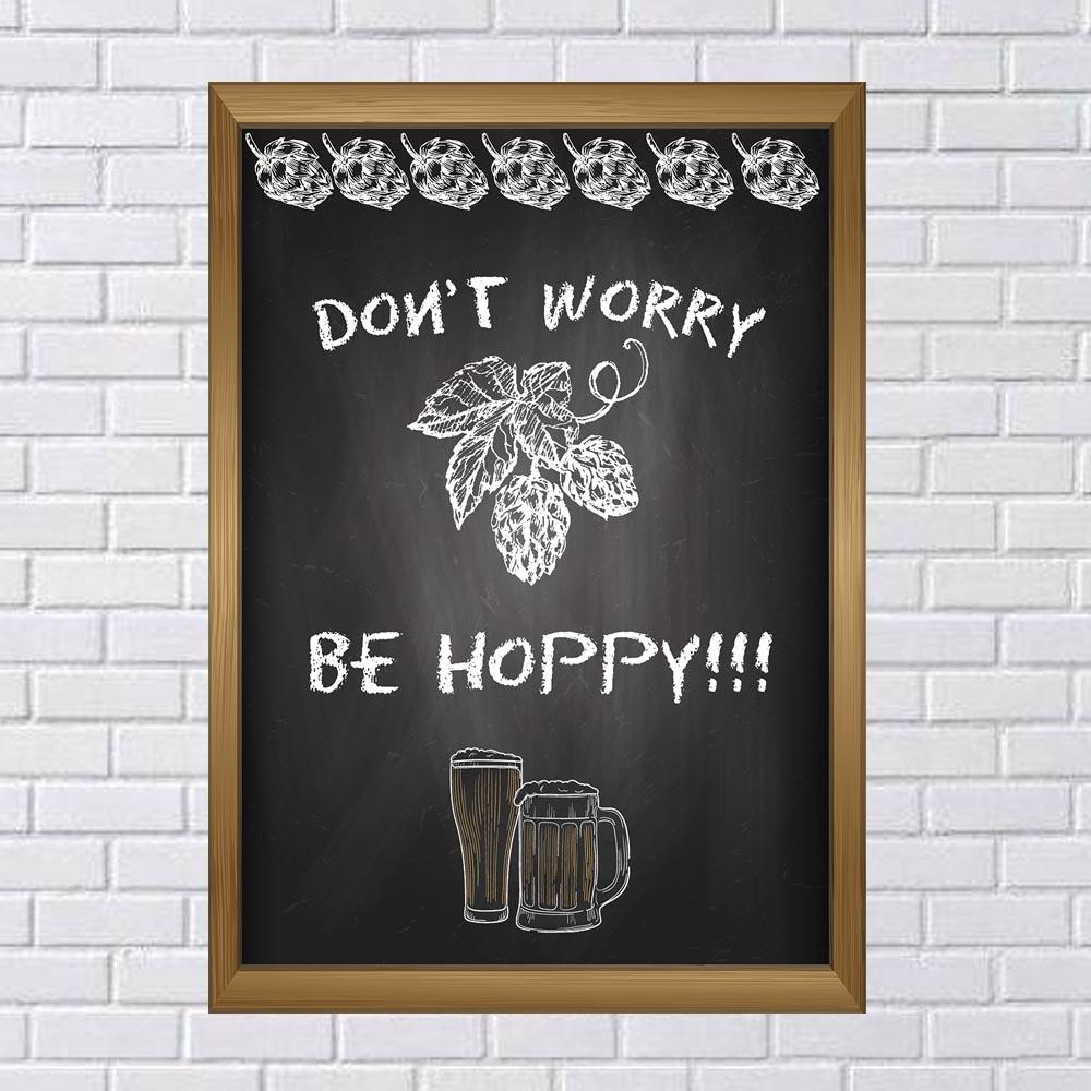 Adesivo de Parede Chalkboard Don't worry Be hoppy