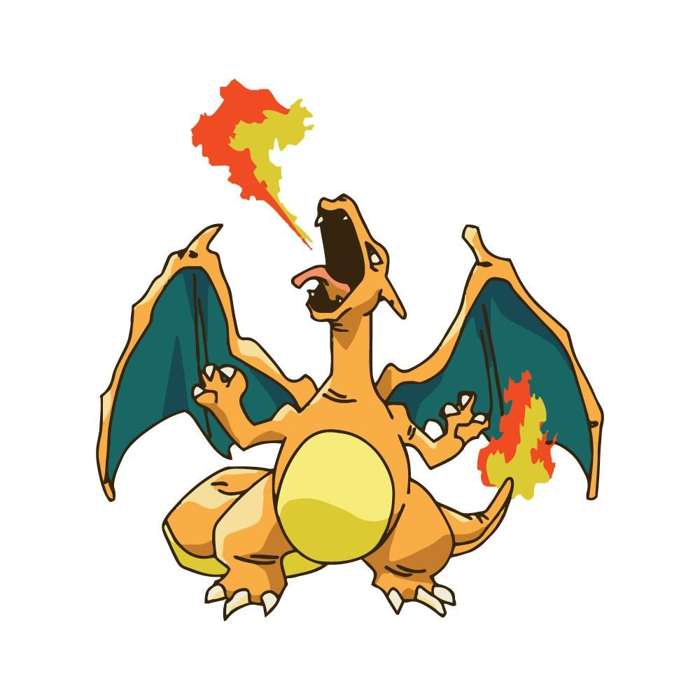 Adesivo de Parede Charizard Fire