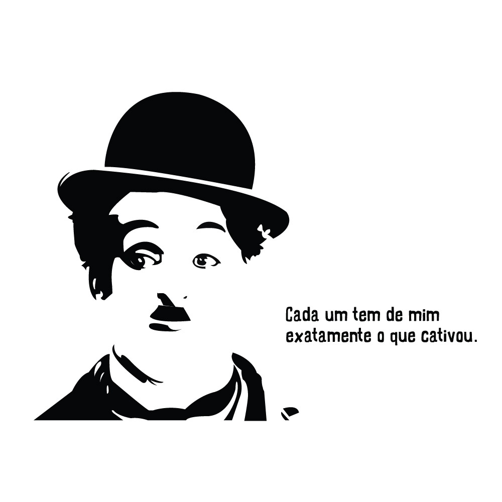 Adesivo de Parede Charles Chaplin