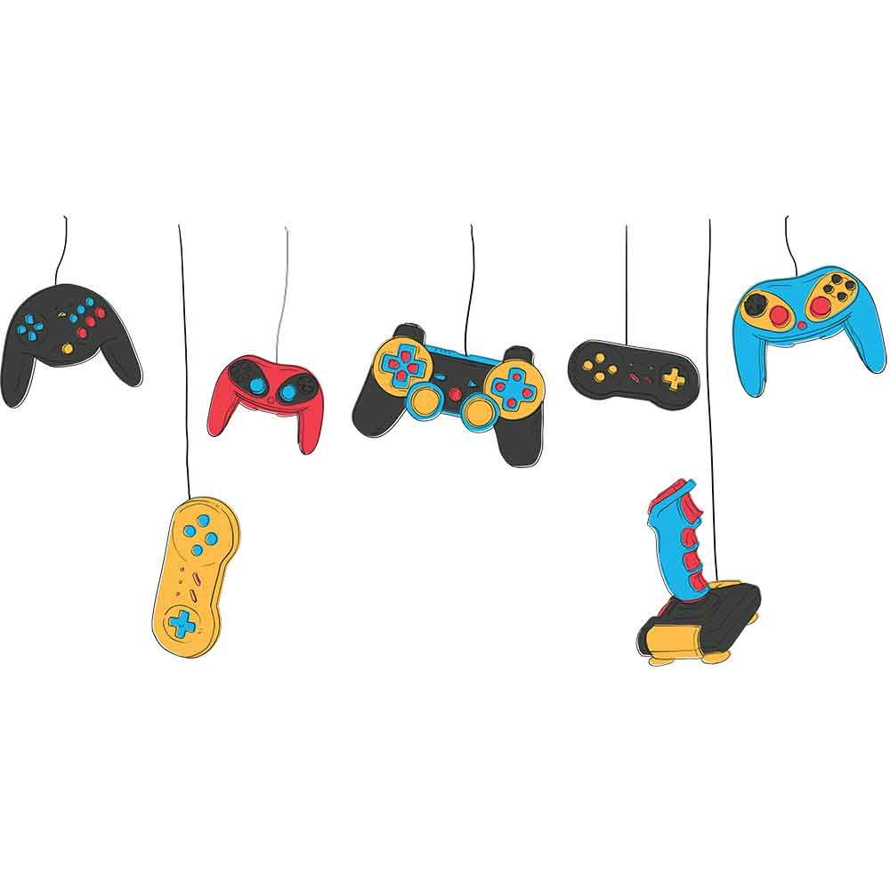 Adesivo de Parede Controles Games